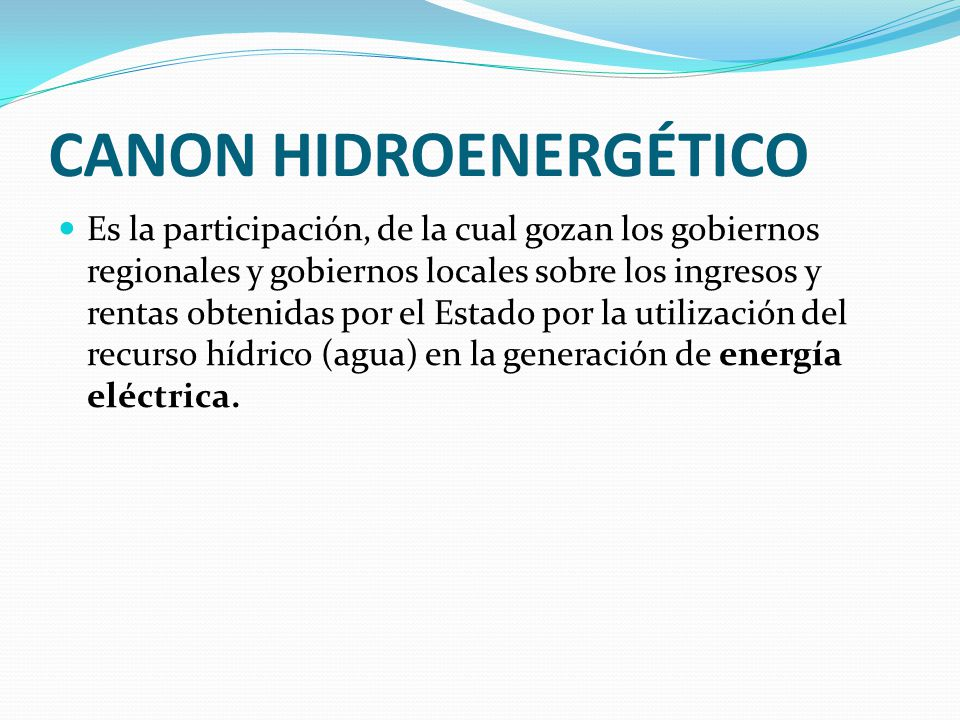 CANON HIDROENERGÉTICO