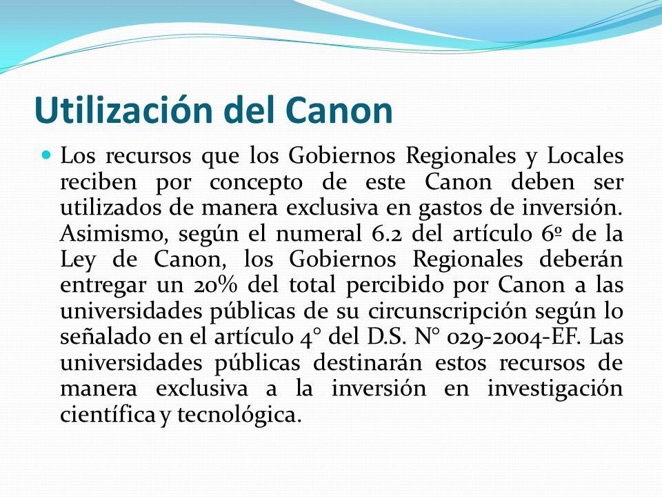 Utilización del Canon