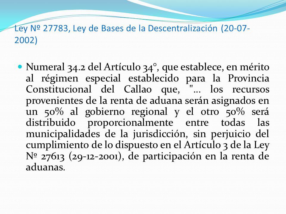 Ley Nº 27783, Ley de Bases de la Descentralización (20-07-2002)