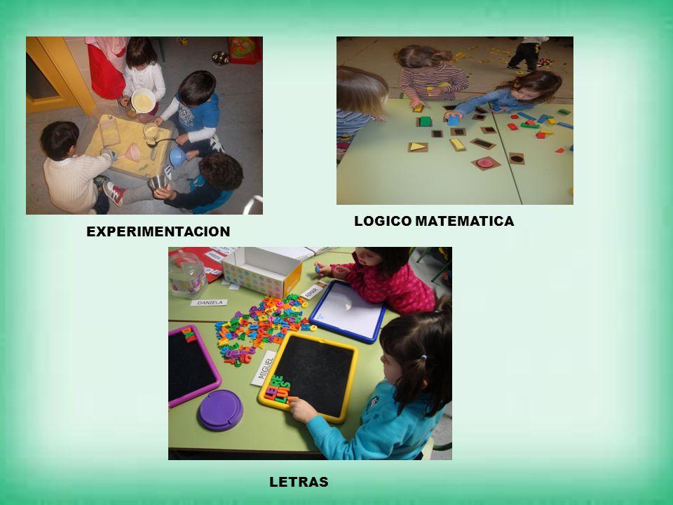 LOGICO MATEMATICA EXPERIMENTACION LETRAS