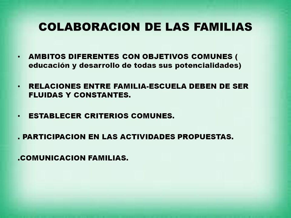 COLABORACION DE LAS FAMILIAS