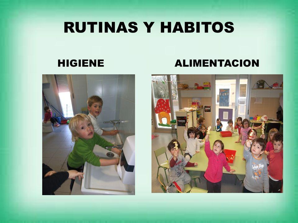 RUTINAS Y HABITOS HIGIENE ALIMENTACION