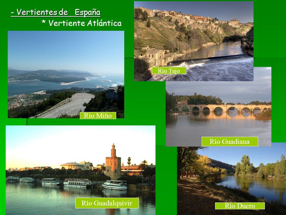 - Vertientes de España Río Miño Río Guadiana Río Guadalquivir