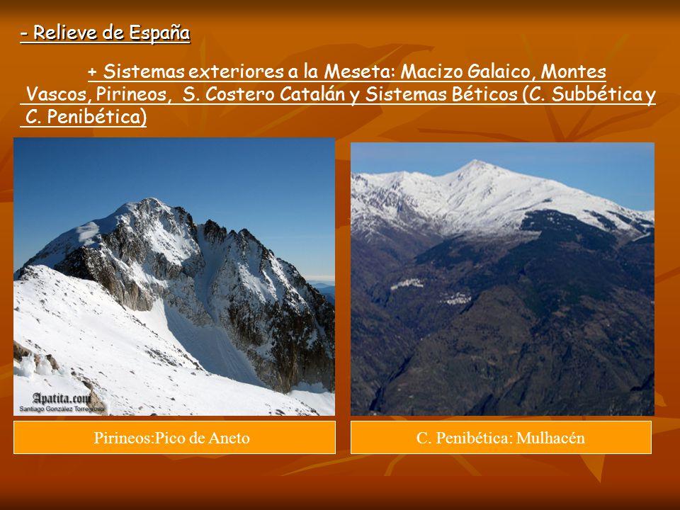 + Sistemas exteriores a la Meseta: Macizo Galaico, Montes