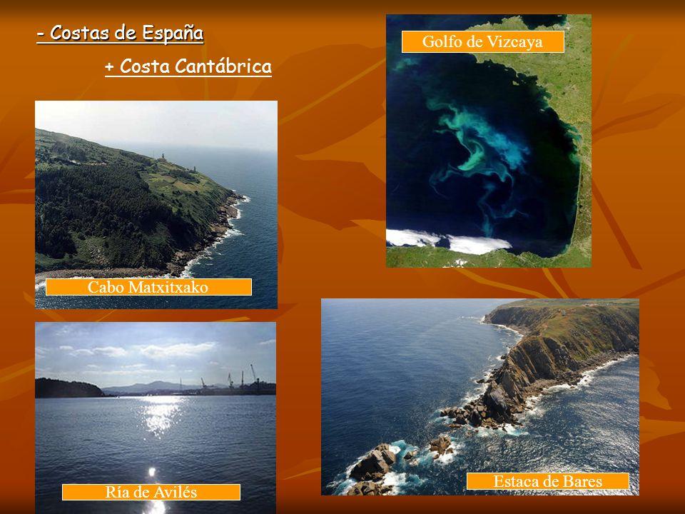 - Costas de España + Costa Cantábrica Golfo de Vizcaya Cabo Matxitxako