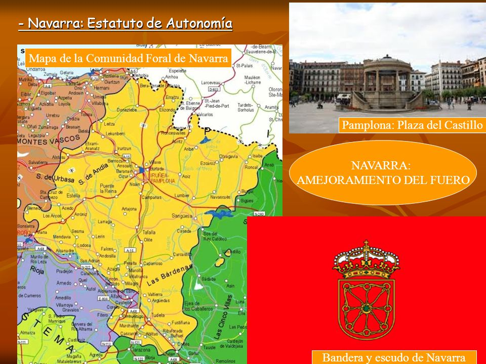 - Navarra: Estatuto de Autonomía