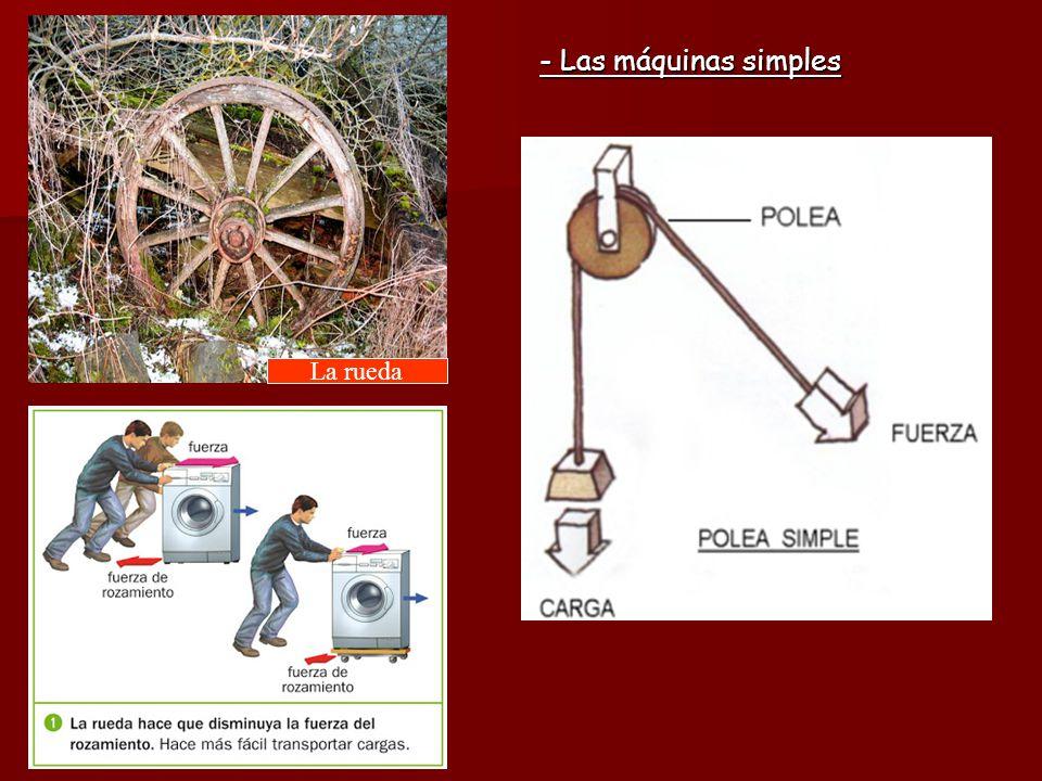 - Las máquinas simples - Las máquinas simples La rueda