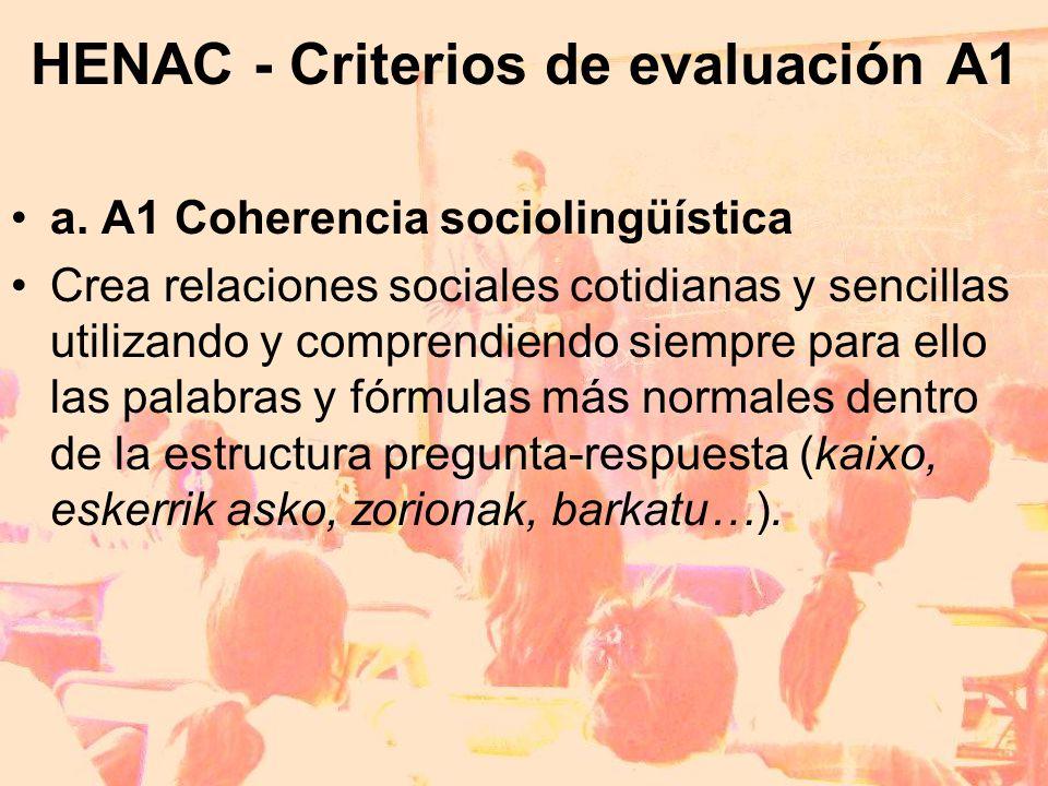 HENAC - Criterios de evaluación A1