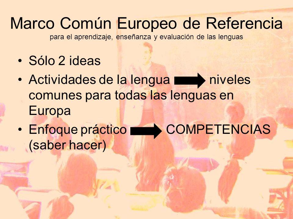 Marco Común Europeo de Referencia para el aprendizaje, enseñanza y evaluación de las lenguas
