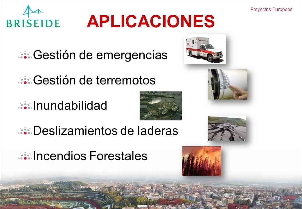 APLICACIONES Gestión de emergencias Gestión de terremotos