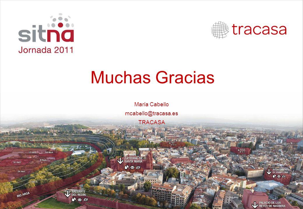 Muchas Gracias María Cabello mcabello@tracasa.es TRACASA