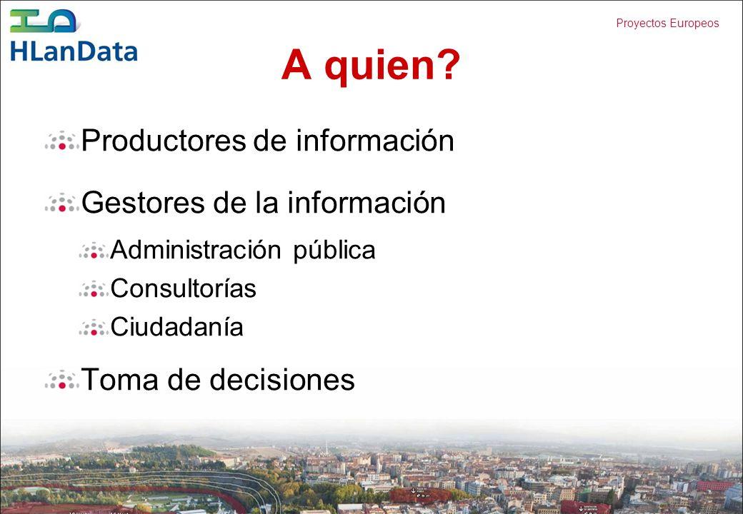 A quien Productores de información Gestores de la información