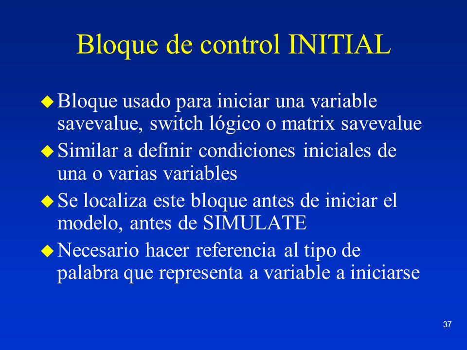 Bloque de control INITIAL