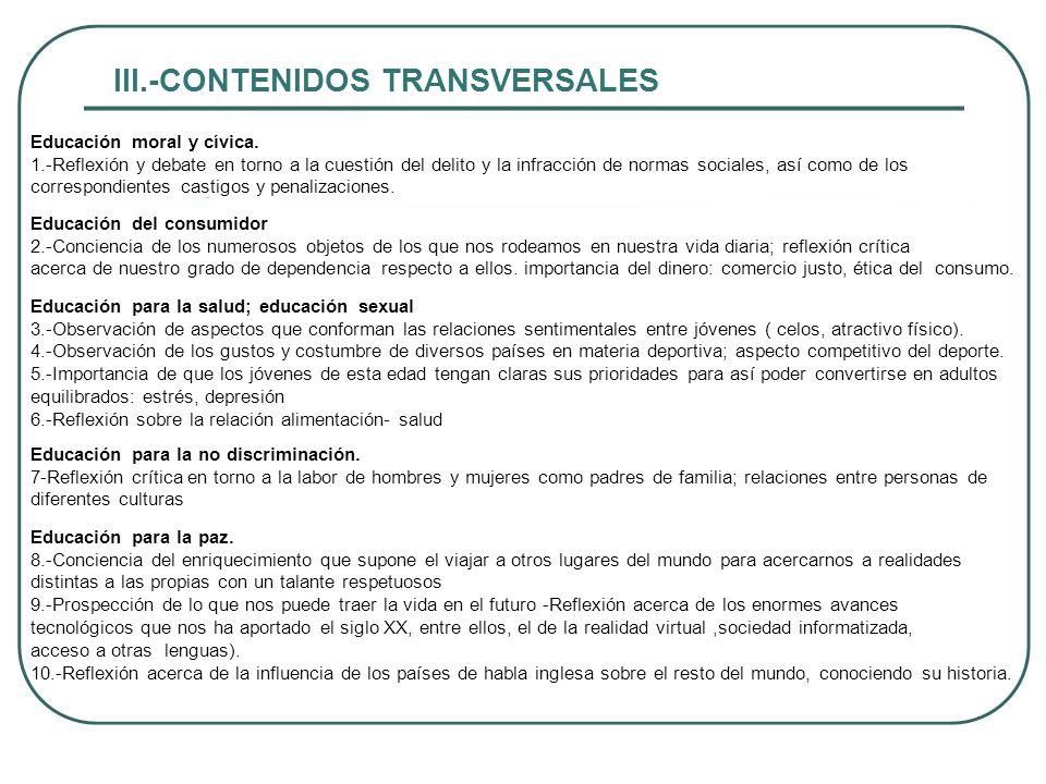 III.-CONTENIDOS TRANSVERSALES