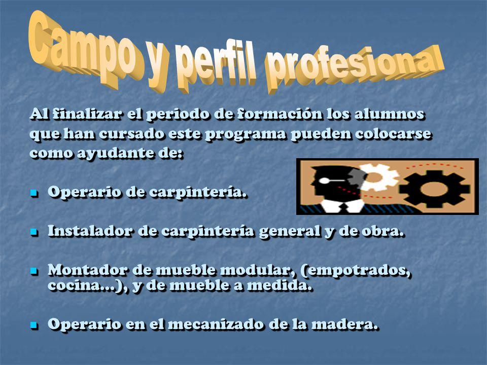 Campo y perfil profesional