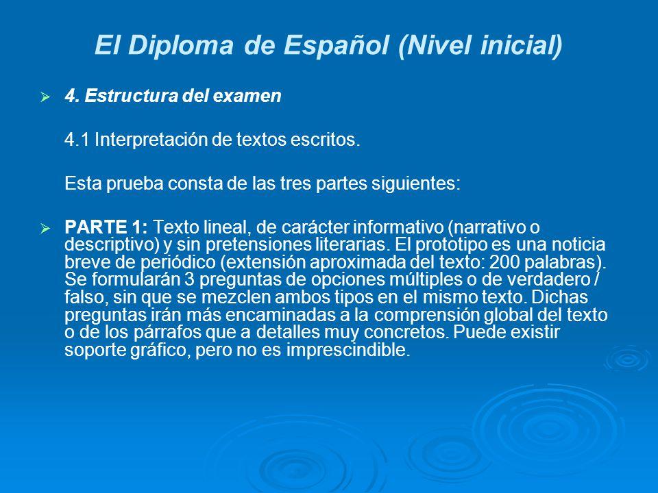 El Diploma de Español (Nivel inicial)