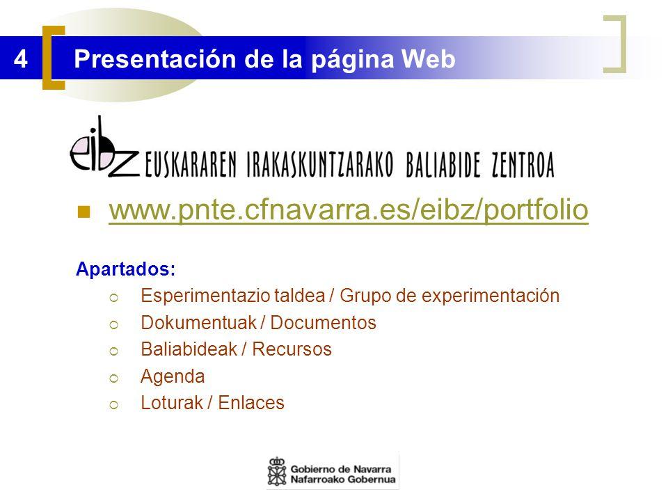 4 Presentación de la página Web