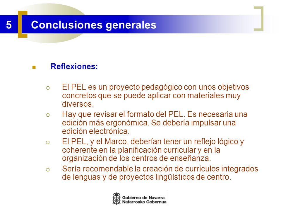5 Conclusiones generales