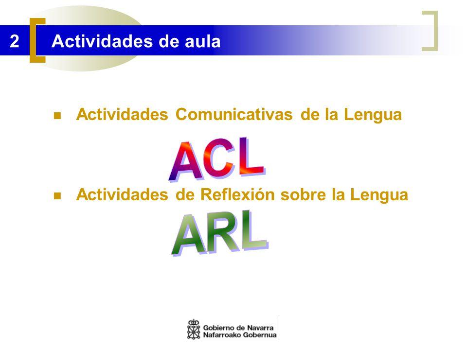 ACL ARL 2 Actividades de aula Actividades Comunicativas de la Lengua