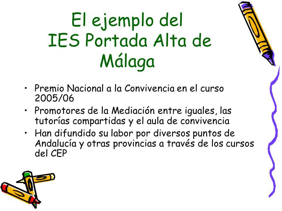 El ejemplo del IES Portada Alta de Málaga