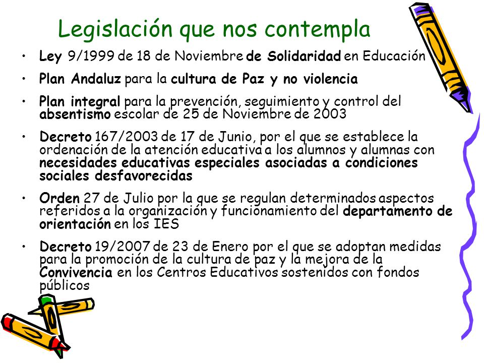 Legislación que nos contempla