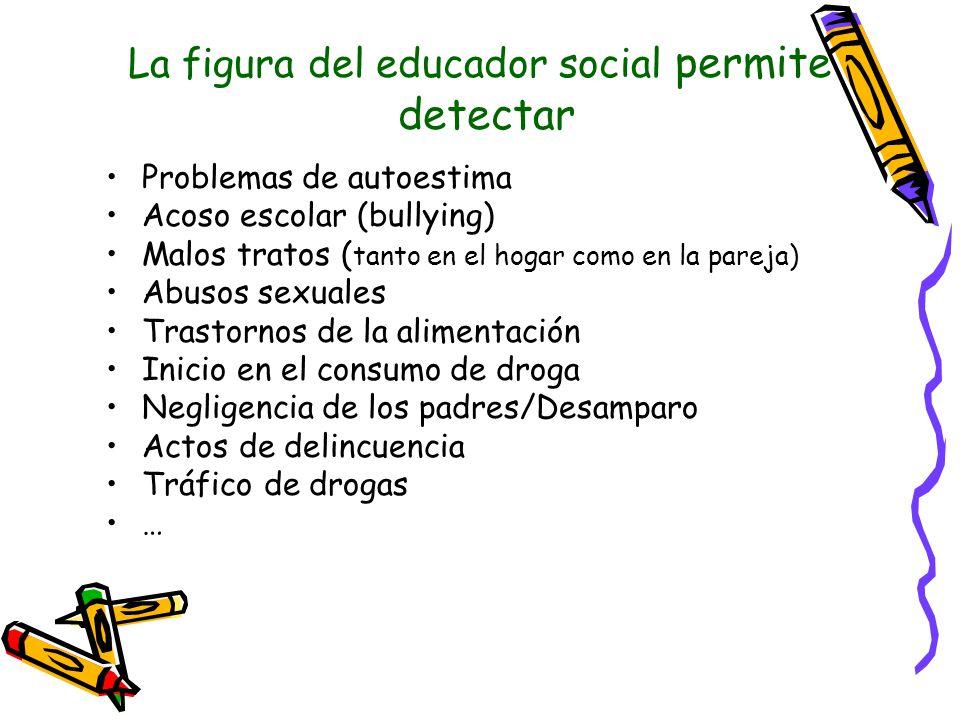 La figura del educador social permite detectar