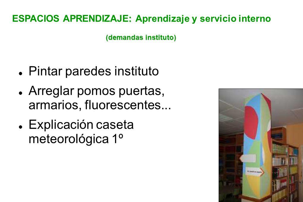 ESPACIOS APRENDIZAJE: Aprendizaje y servicio interno