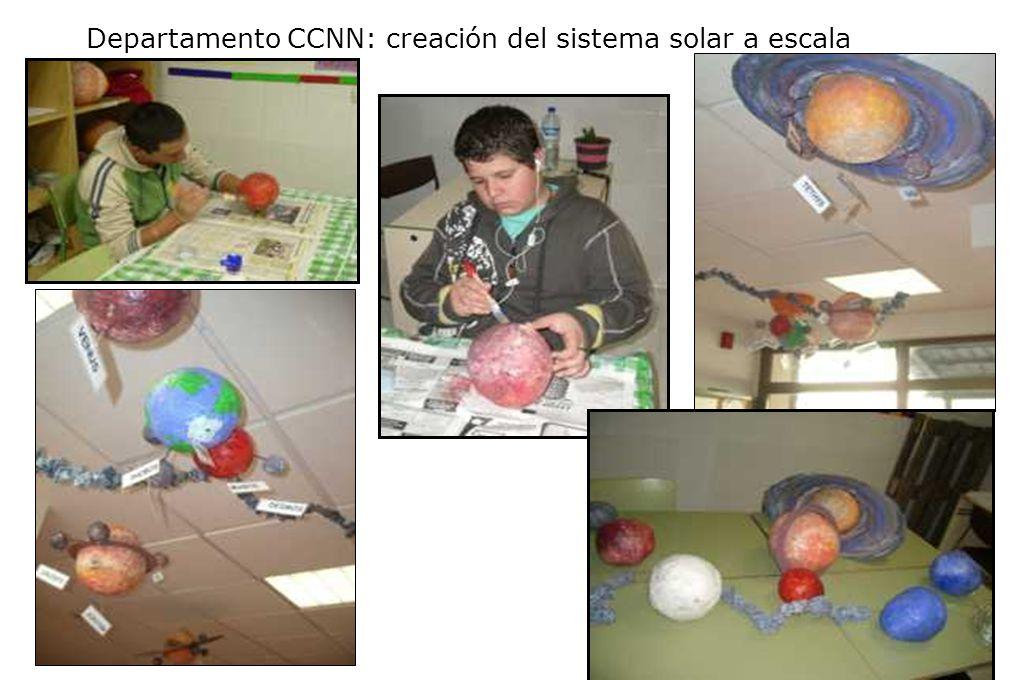 Departamento CCNN: creación del sistema solar a escala