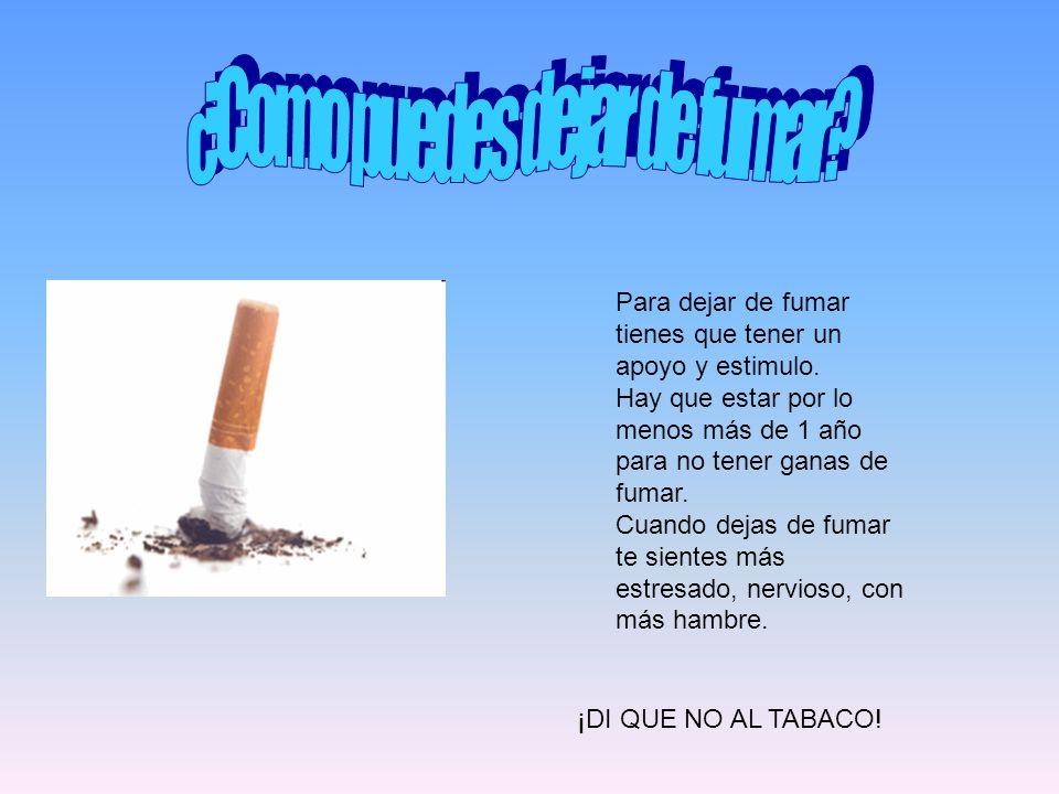¿Como puedes dejar de fumar
