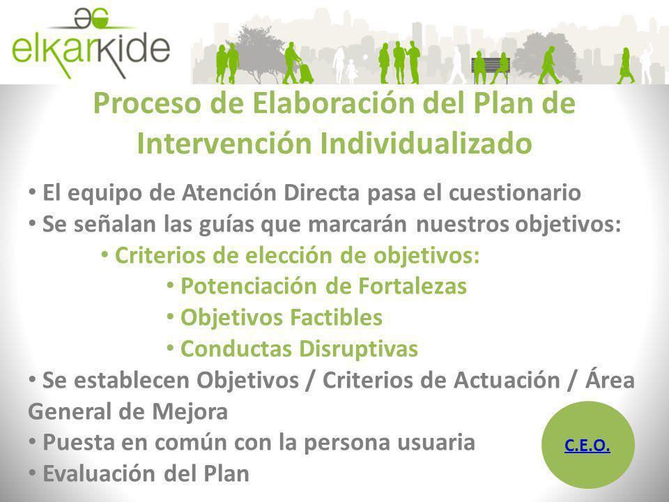 Proceso de Elaboración del Plan de Intervención Individualizado