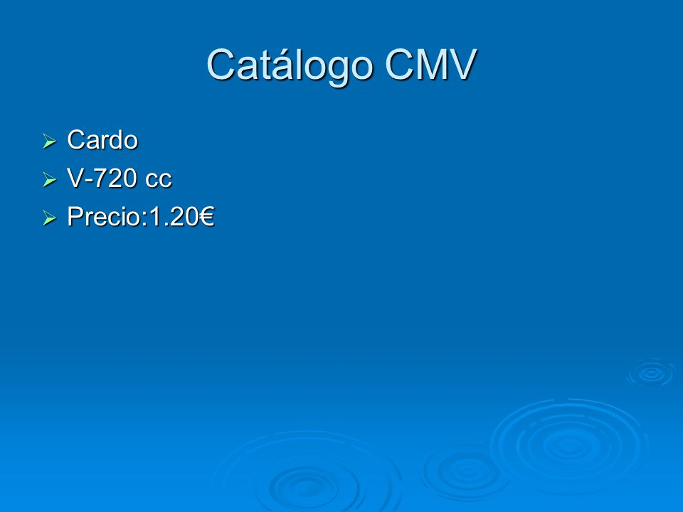 Catálogo CMV Cardo V-720 cc Precio:1.20€