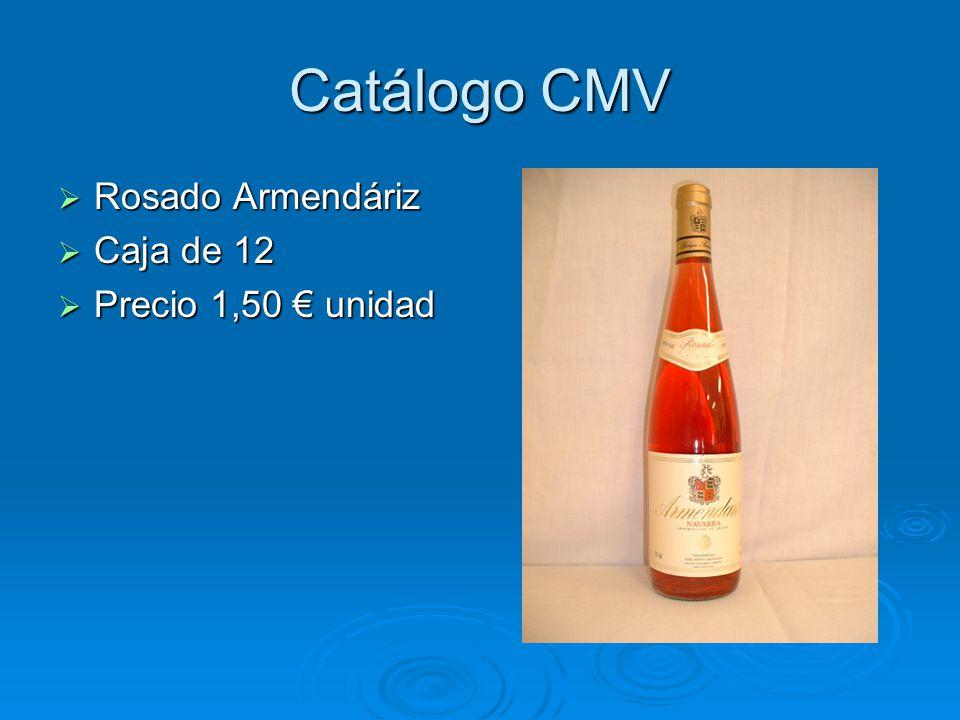 Catálogo CMV Rosado Armendáriz Caja de 12 Precio 1,50 € unidad