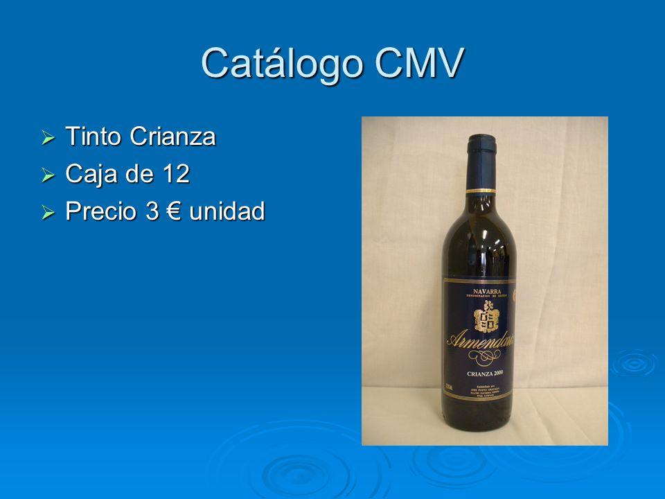 Catálogo CMV Tinto Crianza Caja de 12 Precio 3 € unidad