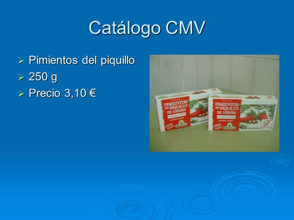 Catálogo CMV Pimientos del piquillo 250 g Precio 3,10 €