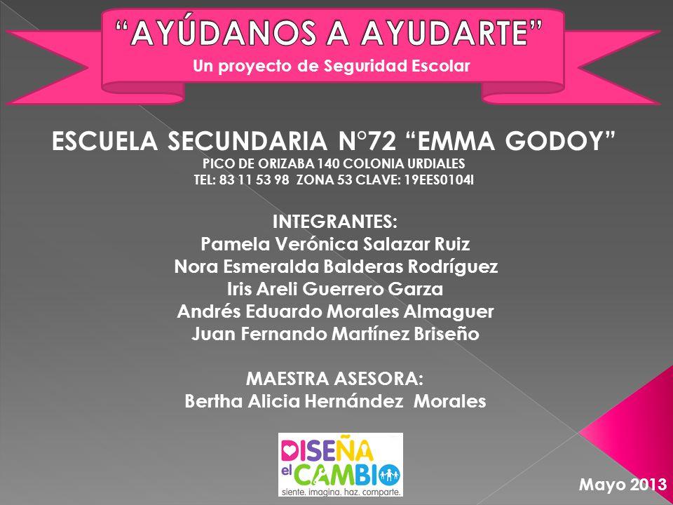 AYÚDANOS A AYUDARTE ESCUELA SECUNDARIA N°72 EMMA GODOY