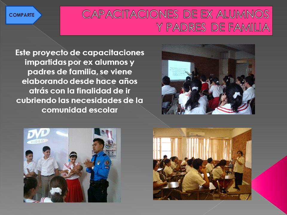 CAPACITACIONES DE EX ALUMNOS Y PADRES DE FAMILIA