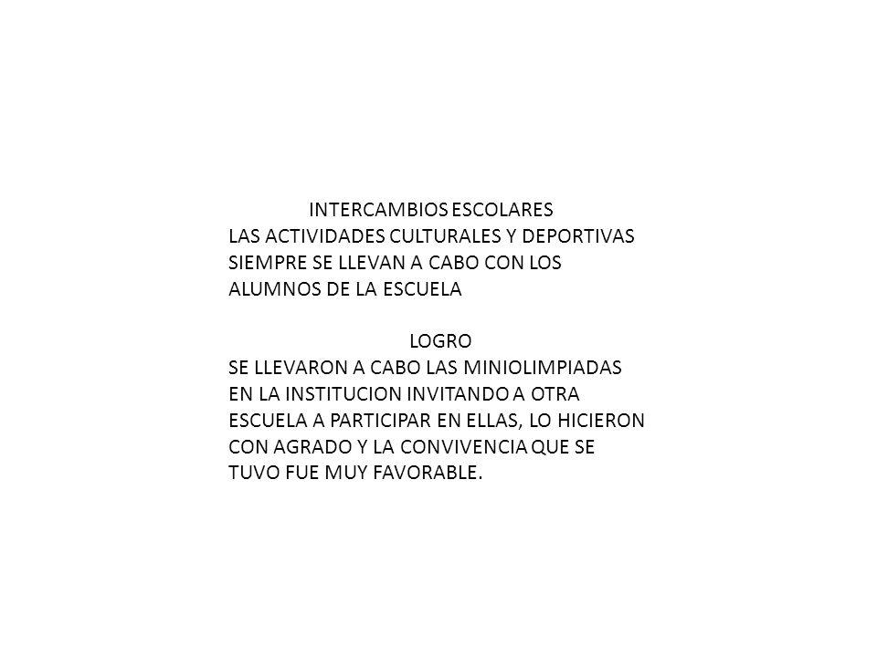 INTERCAMBIOS ESCOLARES
