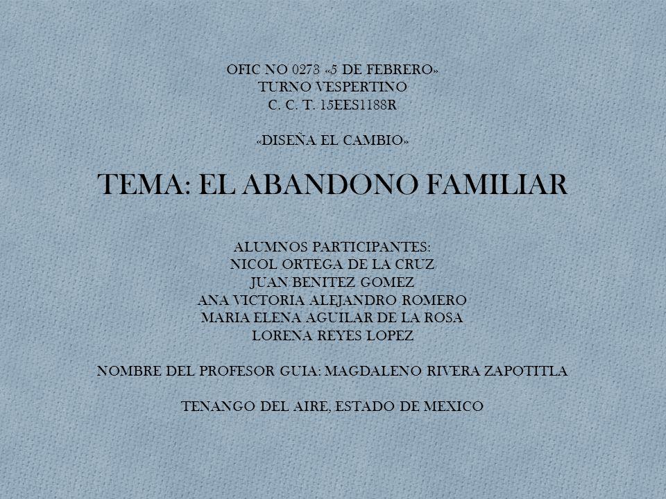 OFIC NO 0273 «5 DE FEBRERO» TURNO VESPERTINO C. C. T