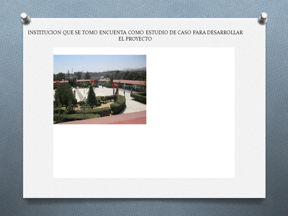 INSTITUCION QUE SE TOMO ENCUENTA COMO ESTUDIO DE CASO PARA DESARROLLAR EL PROYECTO