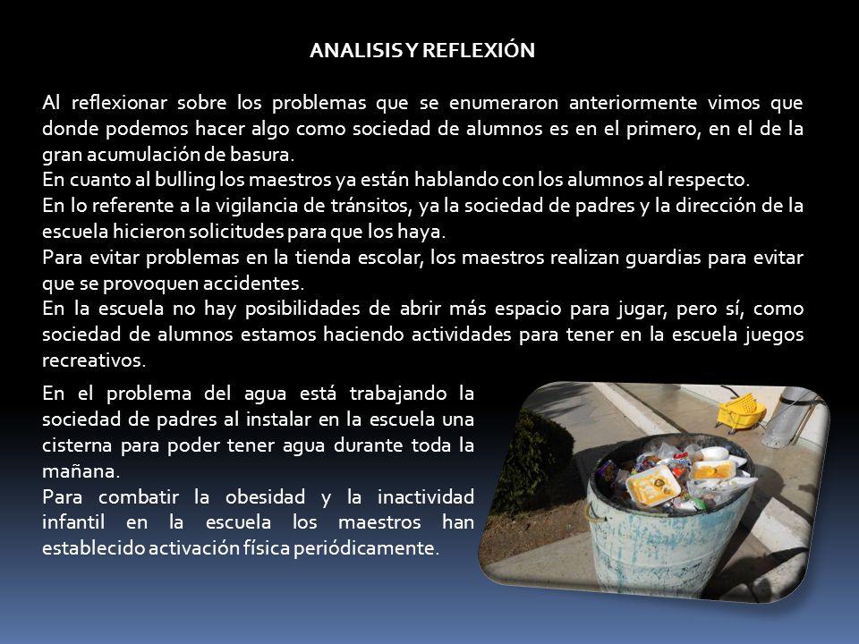 ANALISIS Y REFLEXIÓN
