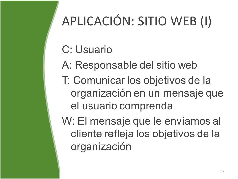 APLICACIÓN: SITIO WEB (I)