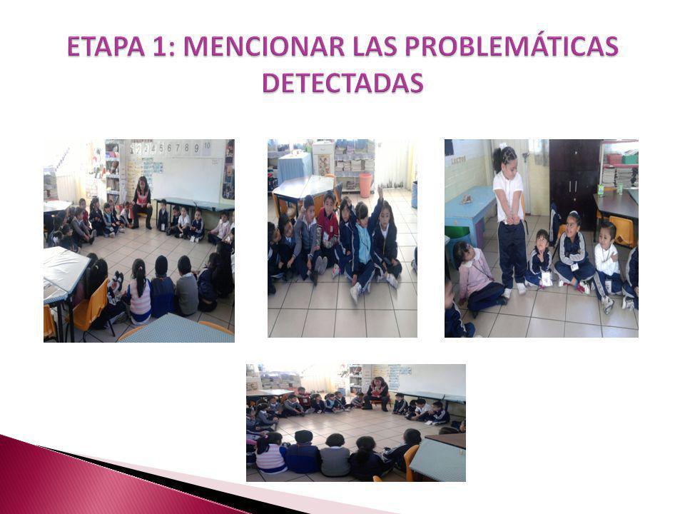 ETAPA 1: MENCIONAR LAS PROBLEMÁTICAS DETECTADAS