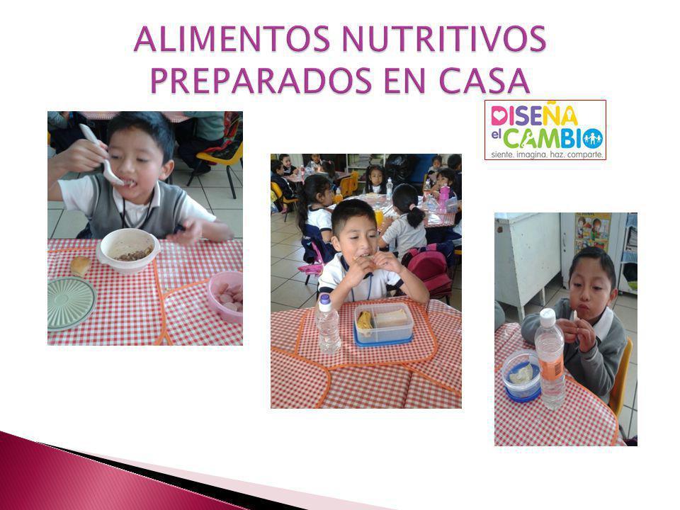 ALIMENTOS NUTRITIVOS PREPARADOS EN CASA