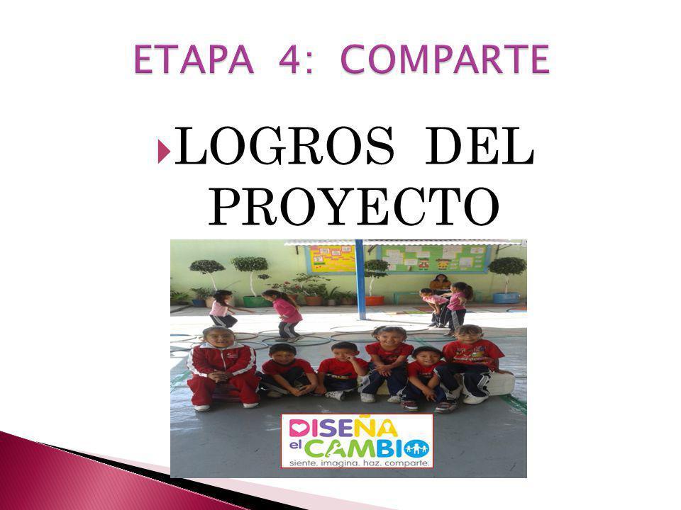 ETAPA 4: COMPARTE LOGROS DEL PROYECTO