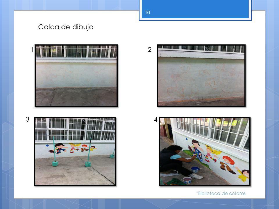 Calca de dibujo 1 2 3 4 Biblioteca de colores