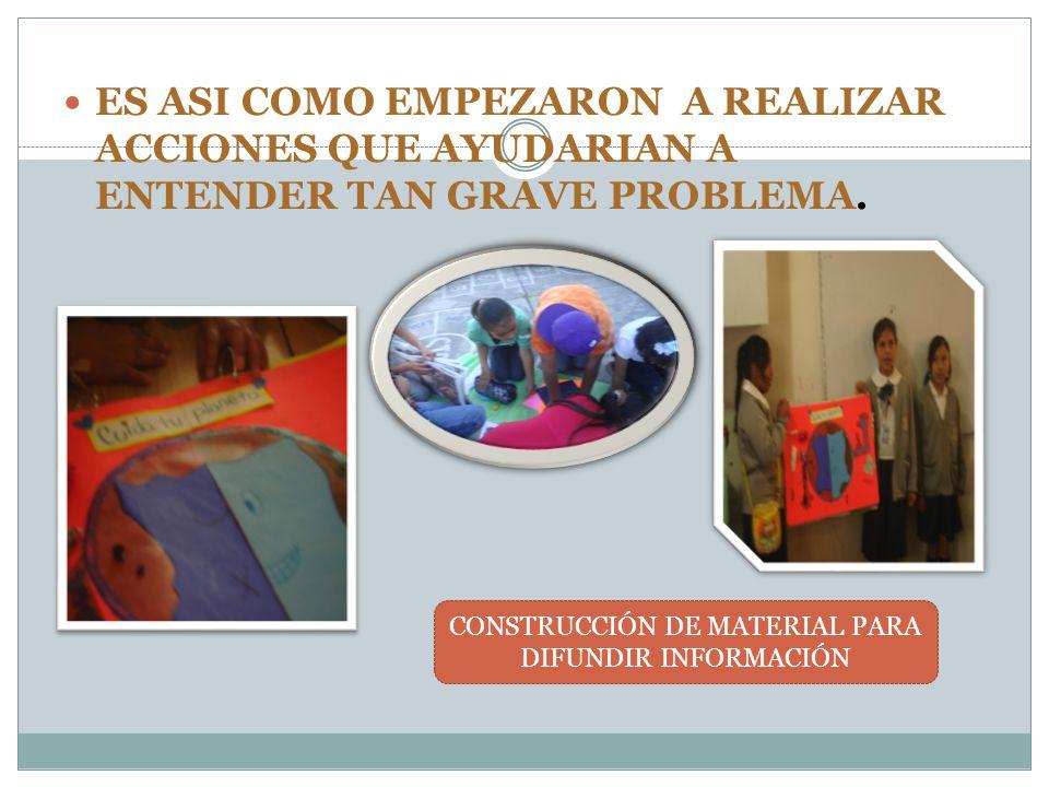 CONSTRUCCIÓN DE MATERIAL PARA DIFUNDIR INFORMACIÓN