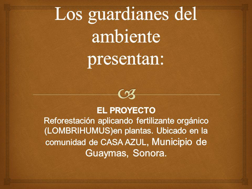 . Los guardianes del ambiente presentan:
