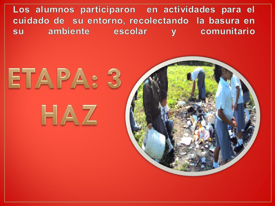 Los alumnos participaron en actividades para el cuidado de su entorno, recolectando la basura en su ambiente escolar y comunitario
