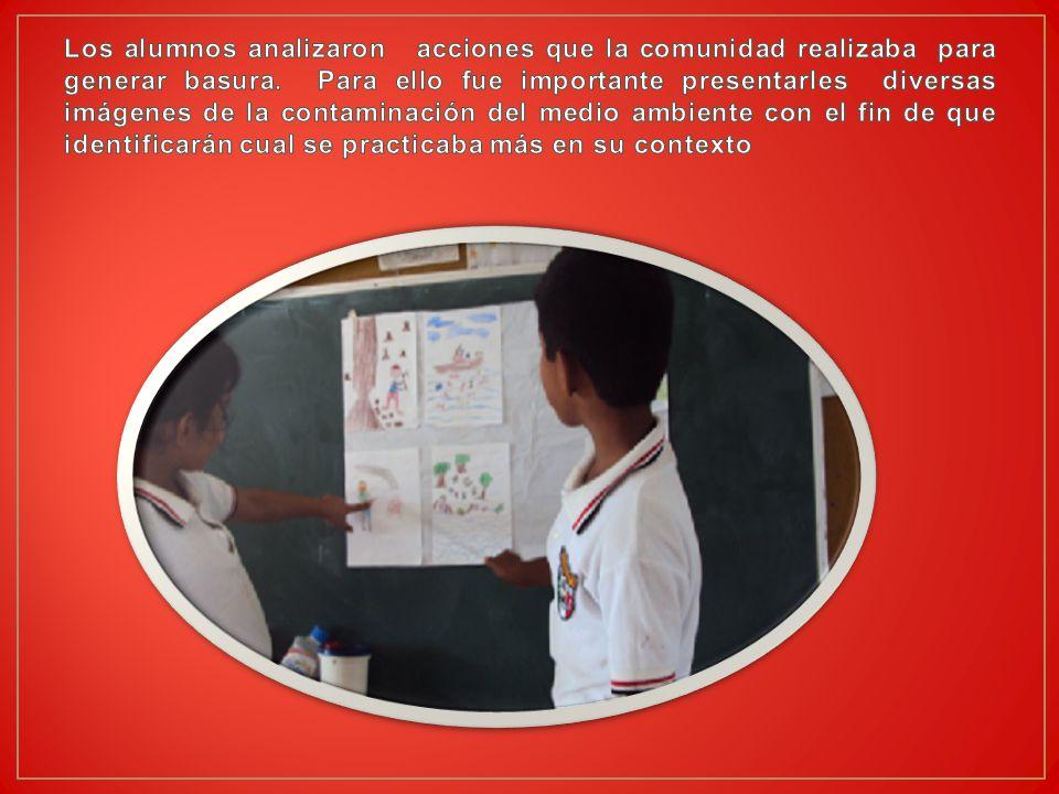 Los alumnos analizaron acciones que la comunidad realizaba para generar basura.
