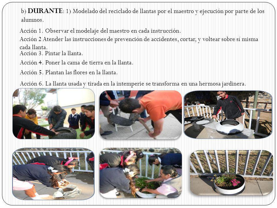 Acción 1. Observar el modelaje del maestro en cada instrucción.